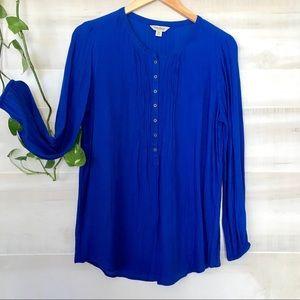Royal blue Lucky Brand long sleeve shirt